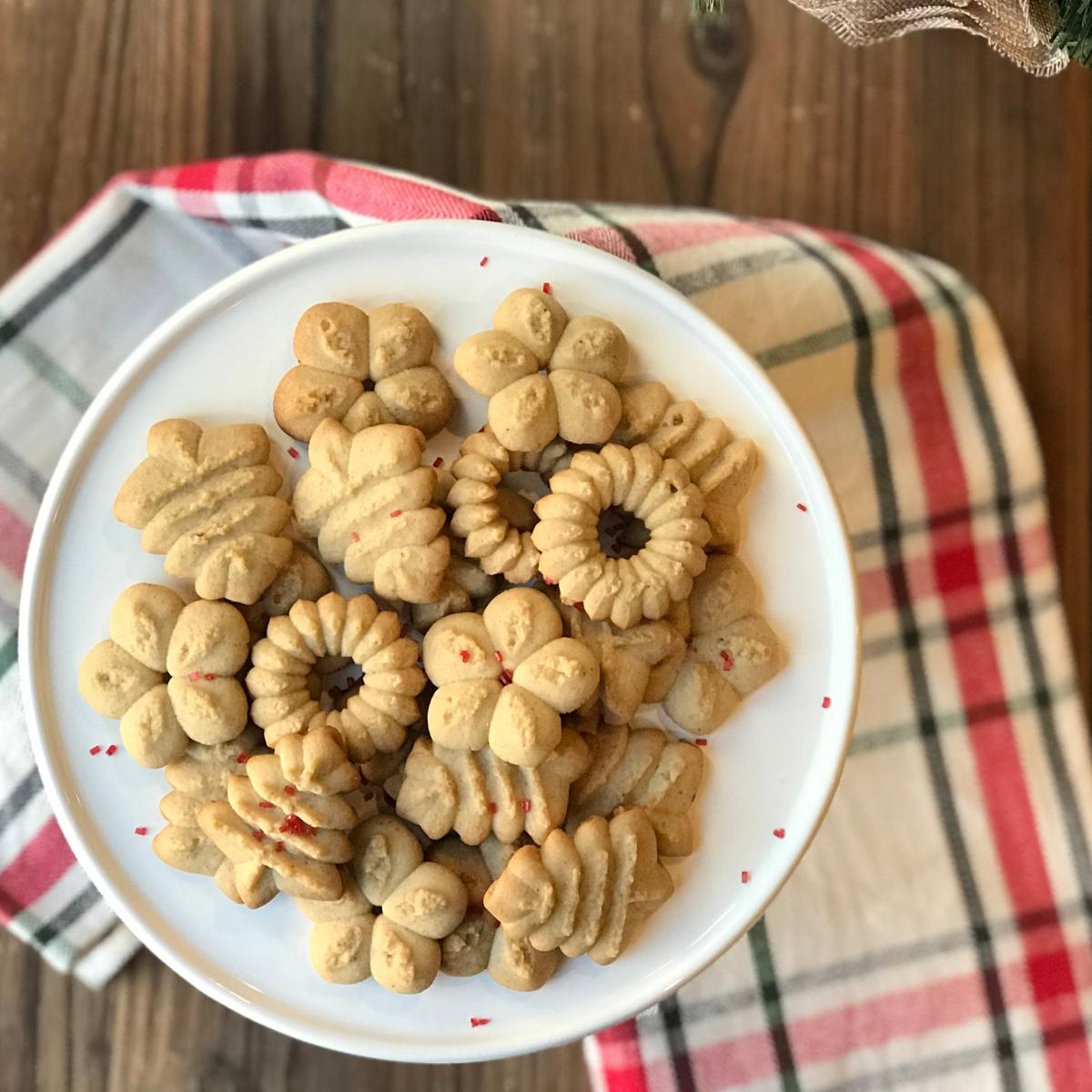 Ginger Spice Spritz Cookies